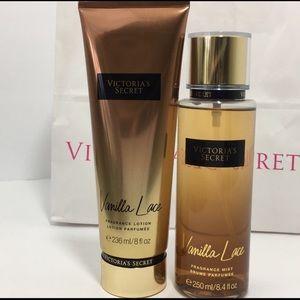 Victoria's Secret Other - New Victoria Secret Vanilla Lace Mist Lotion set
